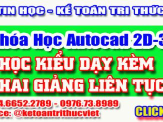 Khóa học Autocad tốt nhất Hà Nội - Trung tâm học autocad Tri Thức Việt