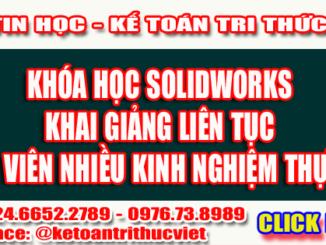 Khóa học Solidworks uy tín tại Hà Nội - Trung tâm tin học Tri Thức Việt