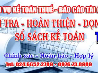 dịch vụ kế toán thuế - báo cáo tài chính tại Hà Nội